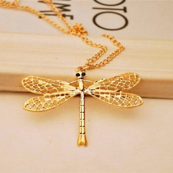Fashion Jewelry Jewelry 14k Rose Gold Plated Dragonfly Wings